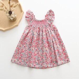 Baby Girls Dresses 2020 Ins European & America Toddler Kids Girl Dress Brand Cotton Summer Linen Clothings Princess Girl Clothes(China)