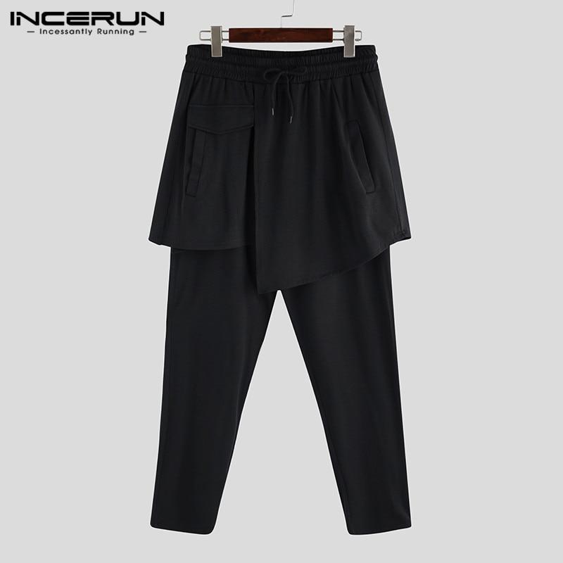 2020 Mens Big Pockets Ankel Cargo Pants Male Spring Streetwear Overalls Sweatpants Man Black Harem Pant Male Linen Trousers 5XL