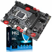 Placa base H61M-S1 h61 LGA 1155 H61chipset socket micro-atx, compatible con DDR3, canal Dual, Intel i3 i5 i7 Core Pentium H61M-S1