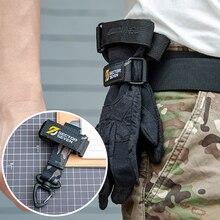 Универсальные тактические поясные сумки с крючком для перчаток и карабином, военный брелок для ключей, аксессуары для кемпинга и пешего тур...