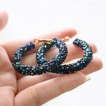 Винтажные корейские большие серьги кольца для женщин женские