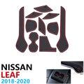 Противоскользящие резиновые подставки под стакан дверной коврик для Nissan Leaf ZE1 2018 2019 2020 10 шт. аксессуары Автомобильные наклейки коврик для те...