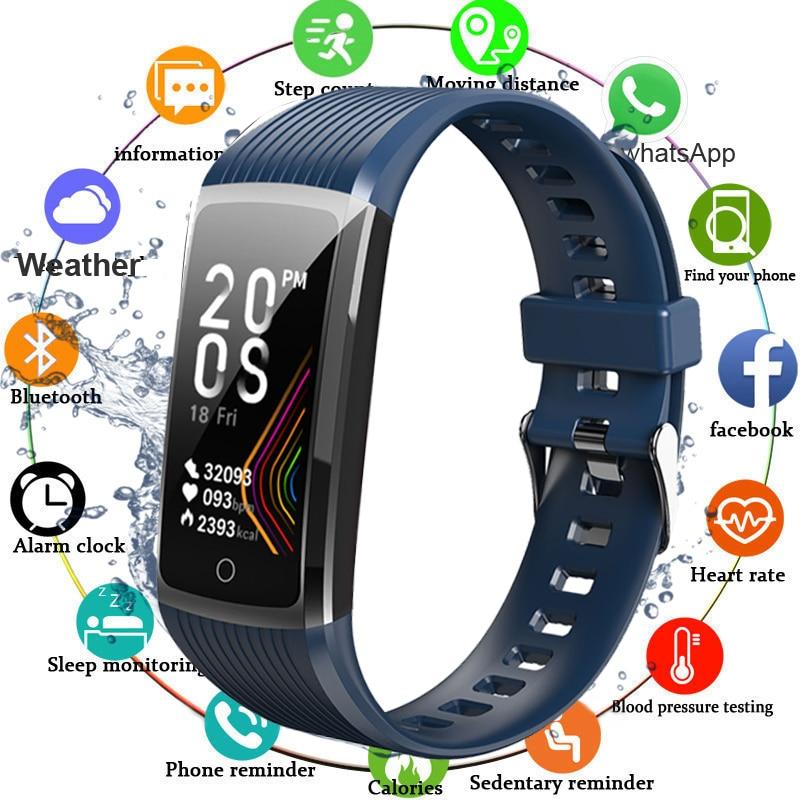 Супер смарт-браслет для мужчин и женщин, фитнес-браслет с тонометром, шагомером, пульсометром, водонепроницаемый смарт-браслет