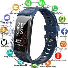 Super inteligentny zegarek bransoletka mężczyzna kobiet ciśnienia krwi bransoletka Fitness krokomierz z pomiarem akcji serca monitora inteligentny zegarek wodoodporny z paskiem