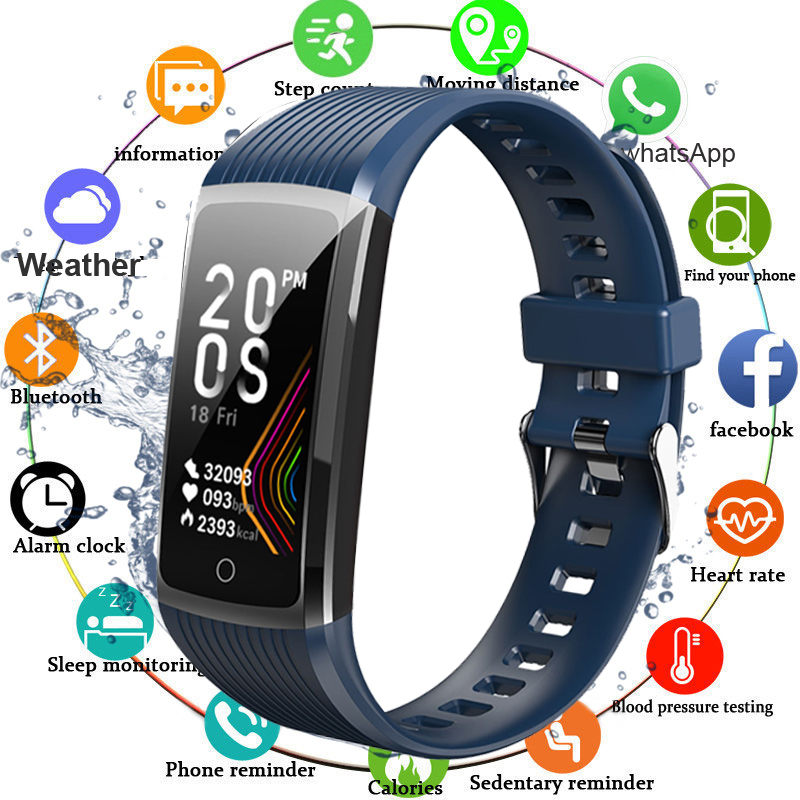 Super Smart Bracelet Watch Men Women Blood Pressure Fitness Bracelet Pedometer Heart Rate Monitor Waterproof Smart Wristband