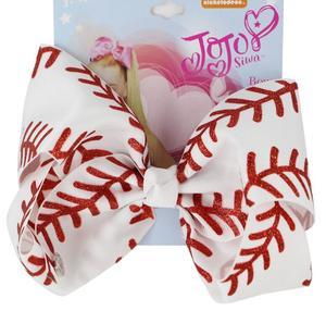 Image 2 - Yeni 7 inç saç yay softbol yaylar saç tokası ile Cheer bow beyzbol futbol voleybol dans elastik band abd 10 adet/
