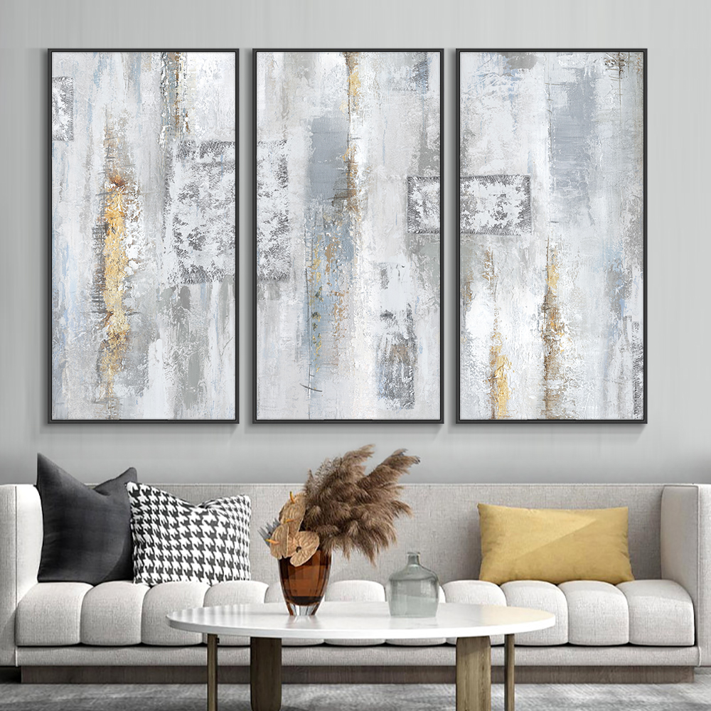 Abstract Gray Wall Art Picture Poster Nordic Canvas Print Painting Contemporary Landscape Decoration For Home Decor Frameless