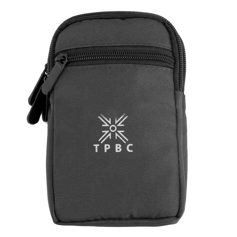 BEAU-Outdoor Running Pack Waist Belt Phone Pouch Bag, Black