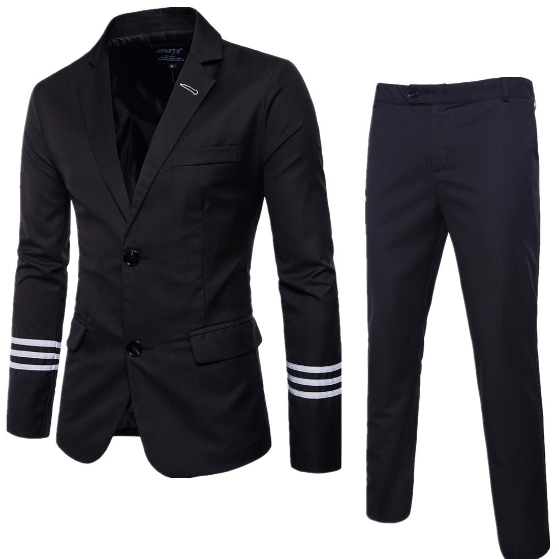 2017 Autumn Clothing Quality Business Leisure Suit Two-Piece Set Groom Best Man Wedding One-Button Suit Set Y909