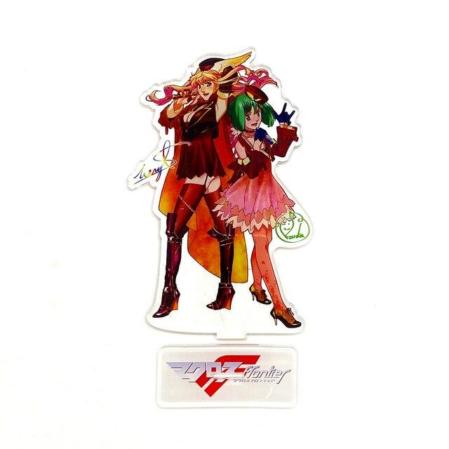 Macross Frontier F Sheryl Nome Ranka Lee HM figura acrílica con soporte placa modelo soporte pastel de cumpleaños anime japonés