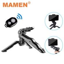 MAMEN Mini telefono/fotocamera treppiede monopiede Selfie Stick con telecomando Bluetooth e supporto per telefono per telefono GoPro DSLR supporto per fotocamera