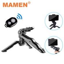 MAMEN מיני טלפון/מצלמה חצובה חדרגל Selfie מקל עם Bluetooth שלט רחוק & טלפון מחזיק עבור טלפון GoPro DSLR מצלמה Stand