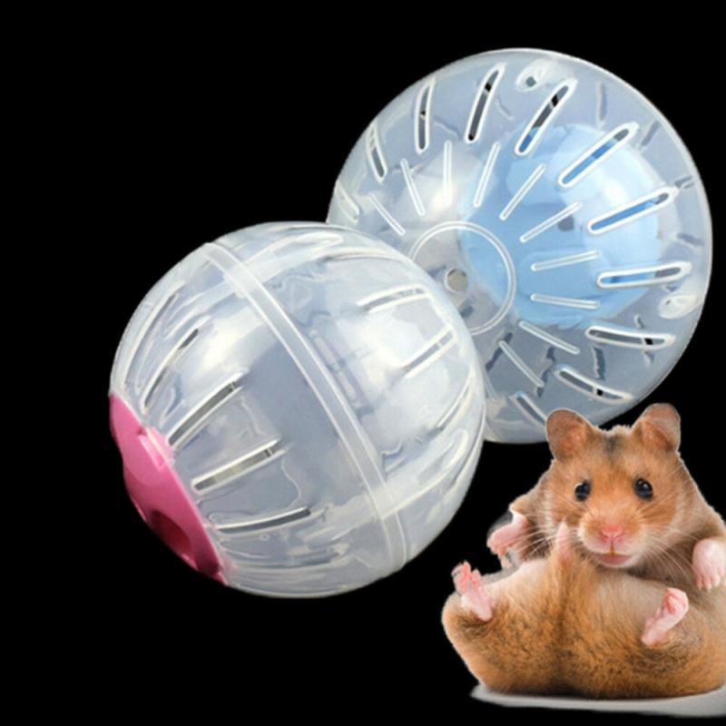 Hamster Running Exercise Wheel Ball Pet Toy For Small Animal Hamster Rat Chinchilla Mice Jogging Training Plastic With Lock Ball