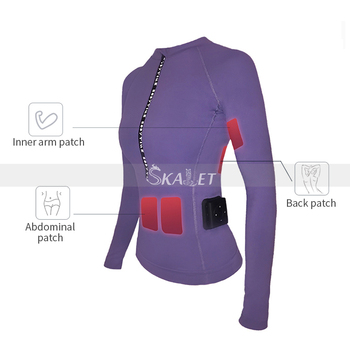 New APP Control Female Design EMS Fat Burning Training Suit Fast Work Out Body Slimming Fitness Muscle Massager Trainer