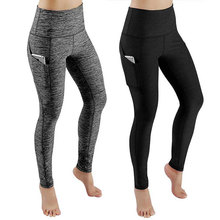 Gym-Leggings Activewear Pockets Yoga Pants Women Tights Workout Sports High-Waist Running