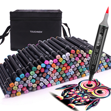 TOUCHNEW 12/30/40/60 /80/168 Soft Brush Markers Pen Set Sketch Brush Markers Alcohol Based Markers Manga Drawing Animation