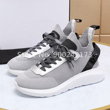 NEW Fashion Brand Casual D2 Shoes Mesh Stretch Fabric Luxury Sneakers Brand Fashion Designer Shoes Men 2021