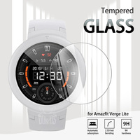 Amazfit-Protector de pantalla de vidrio templado Verge Lite para reloj inteligente, película transparente antiarañazos para Xiaomi Huami Amazfit Verge Lite