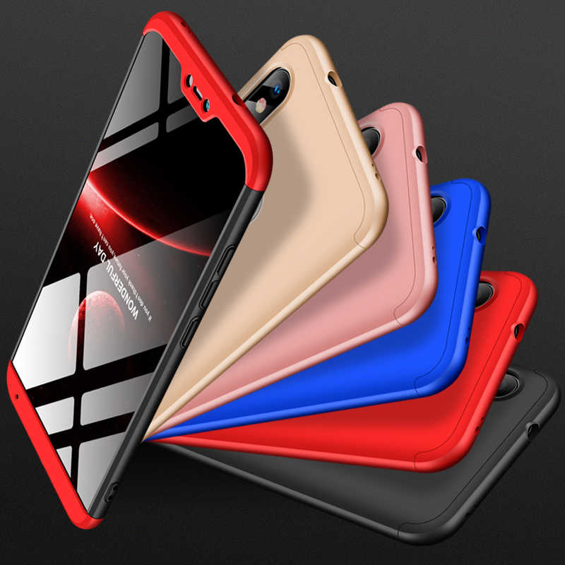For Xiaomi mi A1 A2 lite GKK Case 360 Full Protection Anti-knock 3 in 1 Ultra Thin Hard Case For Xiaomi Mi 5X 6X Phone Cover