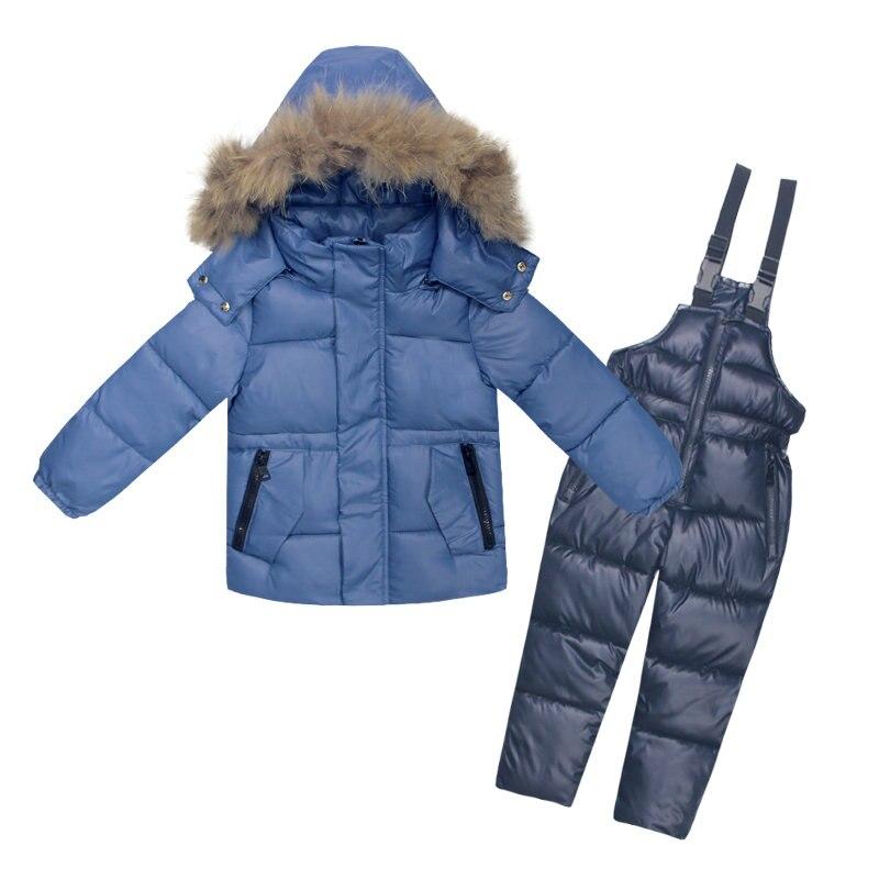3 ~ 7Y russe Snowsuit enfants ensembles enfants bas Jaket garçons vêtements imperméables enfants Ski costume hiver vêtements pour enfants bambin fille