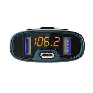 Автомобильный MP3-плеер CDEN PD с функцией быстрой зарядки, Bluetooth 5,0, FM-передатчик, автомобильное зарядное устройство с двумя USB-портами