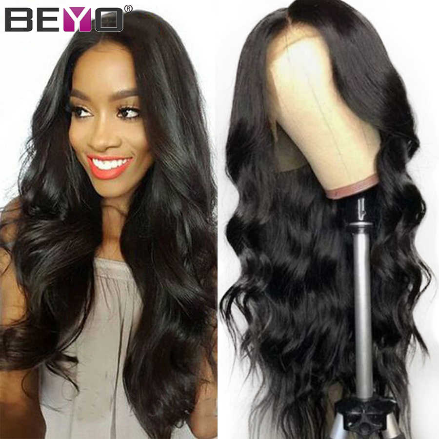 360 Lace Frontal Wig Pre Plucked With Baby Hair 250 Density Brazilian Body Wave Lace Front Human Hair Wigs Beyo Remy Lace Wig