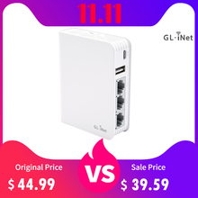 GL.iNet AR750 Travel AC Router 300Mbps(2.4G)+433Mbps(5G) Wi Fi 128MB RAM MicroSD Storage Support OpenWrt/LEDE pre Installed