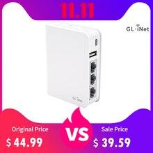 GL.iNet AR750 enrutador de viaje CA, memoria MicroSD de 300Mbps (2,4G)+ 433Mbps(5G) Wi Fi, 128MB de RAM, soporte OpenWrt/LEDE preinstaladoCombos de módem-rúter