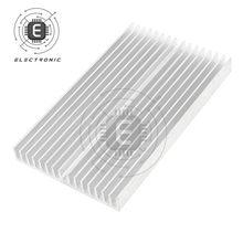 1 PIÈCES 100X60X10mm IC Dissipateur De Chaleur En Alliage D'aluminium Radiateur De Refroidissement Refroidisseur Radiateur Pour CPU ALIMENTATION LED D'approvisionnement