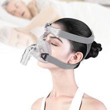 להפסיק לנחור NM2NM4 האף מסכת עבור CPAP מסכת שינה לנחור הנשמה רצועה עם כיסויי ראש לנשום
