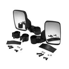 UTV Side View Mirrors Left & Right Adjustable w/ Shatter-Proof Tempered Glass for Polaris RZR Can-Am Kawasaki kubota Yamaha, etc