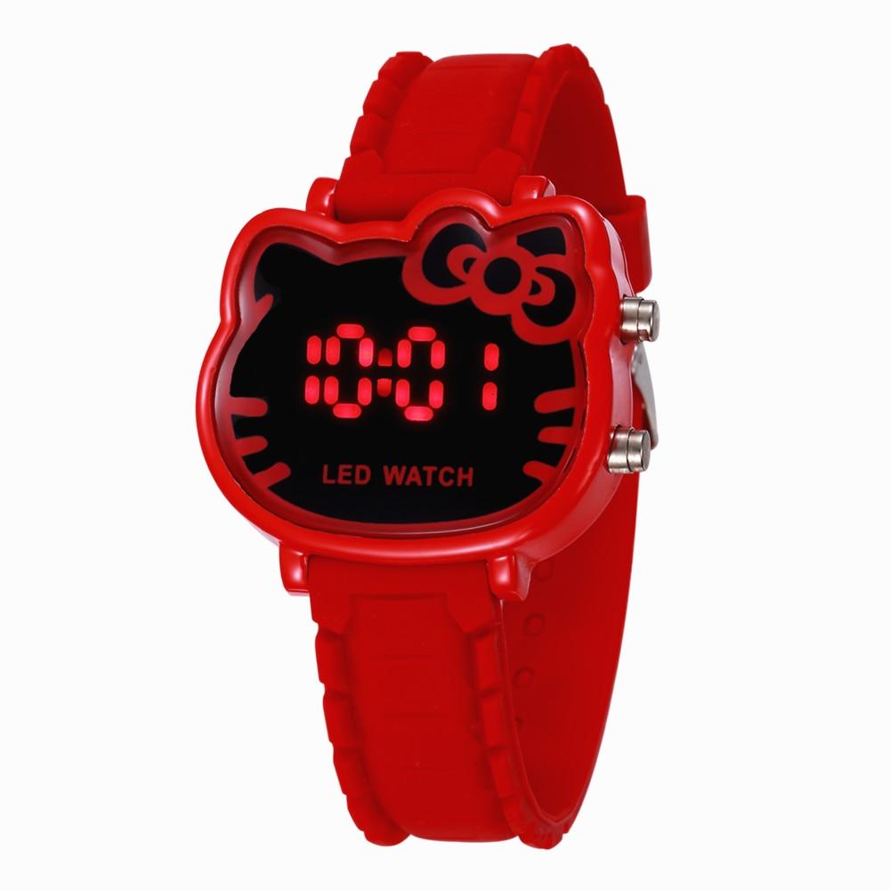 Luxury Brand LED Hodinky Children Watches Kids Girls Cartoon Wristwatch Hot Montre Enfant