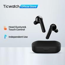 Mobvoi หูฟังท่าทางไร้สาย In Ear หูฟังอิสระการเชื่อมต่อบลูทูธ5.0 Dual Mic การตัดเสียงรบกวน50ชั่วโมง