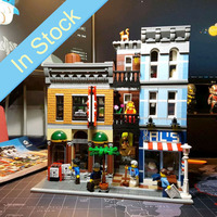 In Stock 15011 Creator Expert City Street View Series Detective's Office Building Blocks Bricks Kids toys Christmas Gift 10246