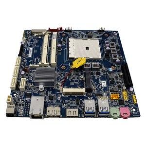 Image 2 - Voor Gigabyte Mqhudvi Dunne Mini 17*17 FM2 A75 Moederbord Itx Dc Aangedreven Lvds Originele Gebruikt Moederbord