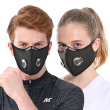 TOSUOD Anti Dust Face Mask Anti-PollutionWith Filter mask Activated Carbon PM 2.5 road bike Sports cycling face Filter mask
