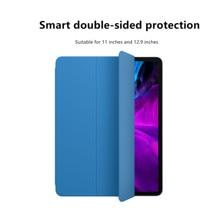 Sólido Cor Tri-Dobra Tablet Capa Protetora para iPad Pro 11 Capa Protetora Folio de Couro Da Aleta Magnética