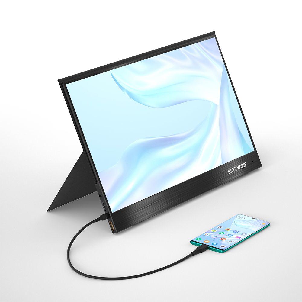 BlitzWolf BW-PCM2 портативный компьютерный монитор 13,3 дюймов FHD 1080P type-C игровой дисплей экран для смартфонов ноутбуков игровые консоли