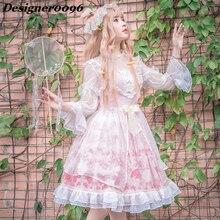 Lolita Dress Original Designer Gothic Japanese Kawaii Maid Cute Woman Clothes Anime cosplay costume Adult