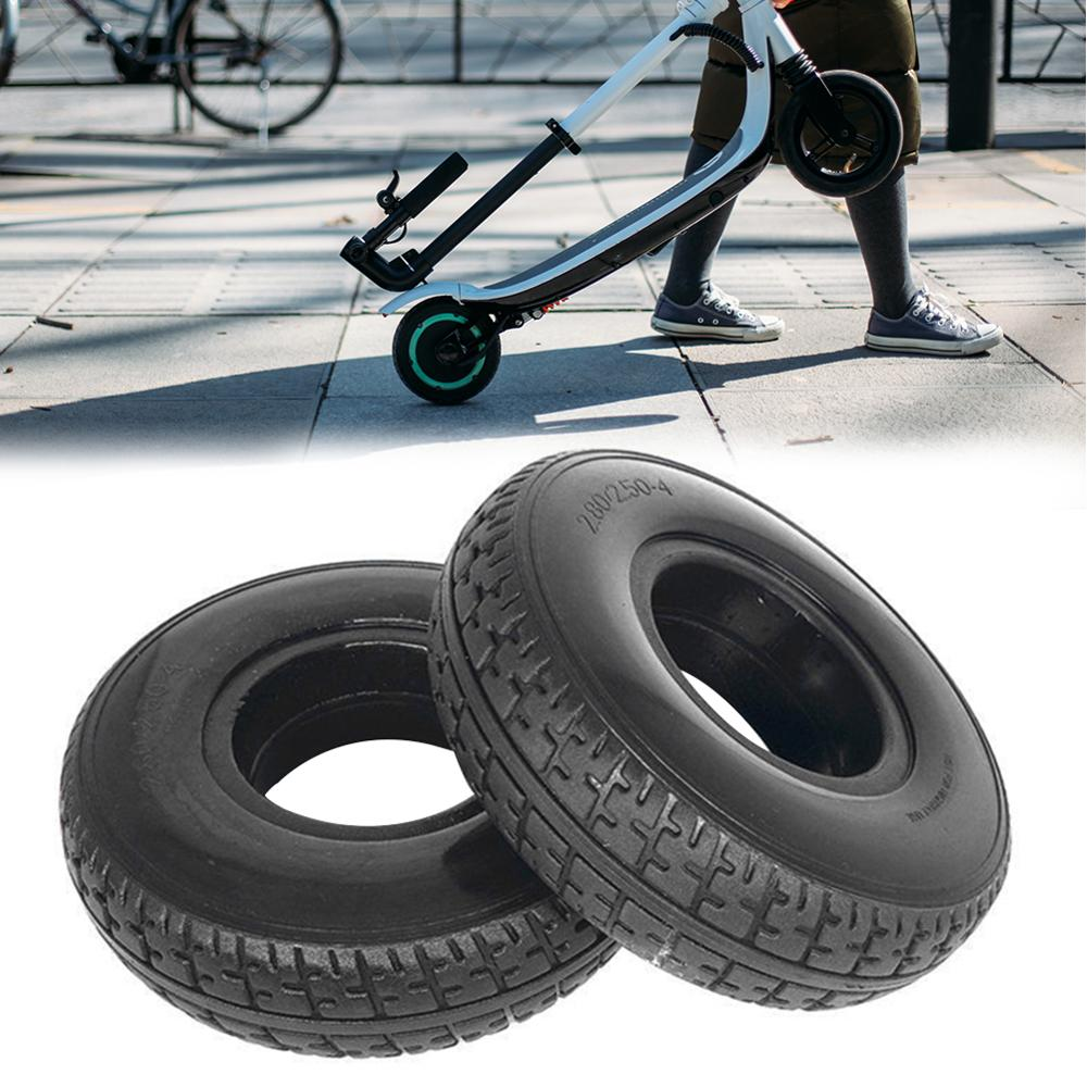 Battery Car Solid Tire <font><b>2.80/2.50</b></font>-<font><b>4</b></font> Mobility Scooter Wheelchair Tyre Electric Scooter Aluminium Alloy Wheel Electric Vehicle image
