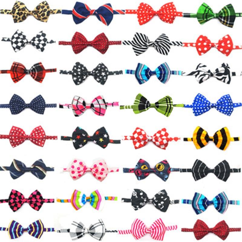 50pcs Dog Bowties Mix Color Pet Dog Hair Bows Bow Ties Cute Dog Bow Tie Hair Bows Dog Grooming Products