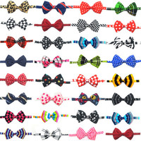 50pcs Dog Bowties Mix Color Pet Dog Hair Bows Bow Ties Cute Dog Bow Tie Hair Bows Dog Grooming Products