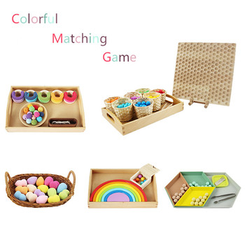 Color Sorting and Matching Game Preschool Early Educational Toys Montessori Sense Materials Preliminary Exercises Kids - sale item Learning & Education