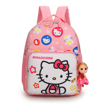 Fashion Children's Shoulder Bag Cute Cartoon Hello Kitty Girls Bags For Kids School Kindergarten Backpacks Students Princess Bag new cartoon cute genuine hello kitty backpack hellokitty bag high quality pu pink school bags melody travel bag for girls gift