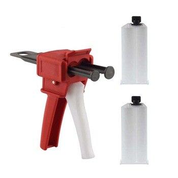 50ml AB Glue Gun 1 Set and 2pcs 1:1 AB Cones
