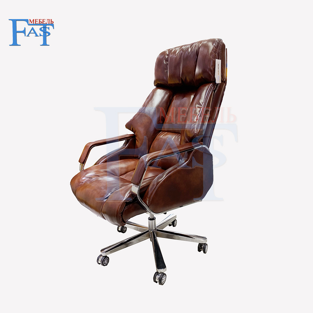 Office Armchair For Leader, Home Armchair Computer Armchair Leather Armchair Swingable Armchair With Lift And Swivel Function