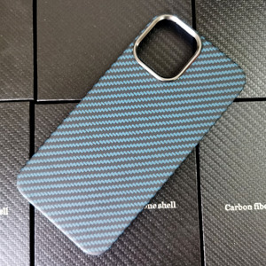 Image 2 - Blue Matte Ultra Light 100% Real Carbon Fiber Case Cover For iPhone12 Mini Case For iPhone 12 Pro Max Lens Protection
