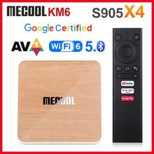 Mecool 2020 Deluxe ATV Amlogic S905X4 inteligentny Android 10.0 TV, pudełko 4GB RAM 64GB ROM 2.4G/5G WiFi 4K Android 10 dekoder 2GB 16GB