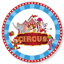 9inch Festival Birthday-Decoration Circus Tableware Paper-Plates Party-Supplies Baby Shower
