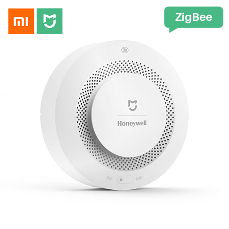 Xiaomi Mijia Honeywell Fire Alarm Smoke Detector Sensor Audible Visual Alarm Notication Work With Mi Home App By Cell Phone